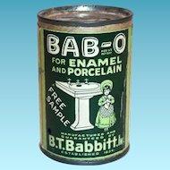 BAB-O Advertising Free Sample Tin Bank