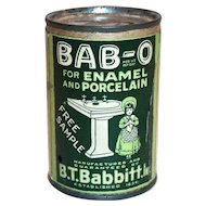 BAB-O Advertising Free Sample Tin Bank