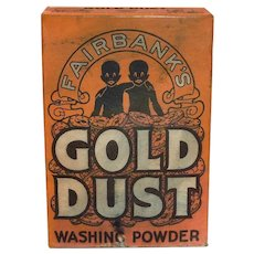 Advertising: Black Americana: Gold Dust Washing Powder Box