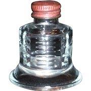 B B Bell Shaped Glass Ink Bottle