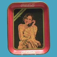 """Coca Cola 1930 """"Meet Me At The Soda Fountain"""" Metal Serving Tray"""