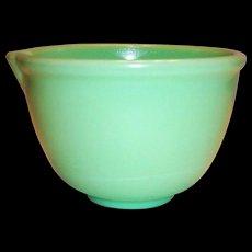 Vintage Jadite Colored Batter Mixer Bowl