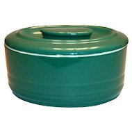 Hall China Green Covered Refrigerator Dish Made For Westinghouse