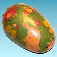 Vintage 1950's Metal Easter Egg Candy Holder