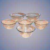 Fire King Sapphire Blue Glass Custard Bowl