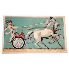 Clark's Mile End Cupid On A Chariot With Horses Trade Card