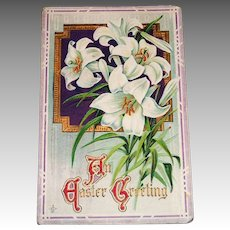 LSC: A Easter Greeting Postcard (Easter Lilies)