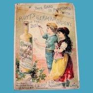 Hoyt's German Cologne Trade Card - 1885