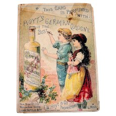 Hoyt's German Cologne Trade Card - 1885