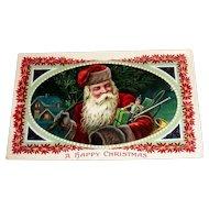 Santa Claus: A Happy Christmas Postcard (Santa Delivering Toys)-Barton Spooner