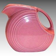 Fiesta Rose Colored Disk Pitcher