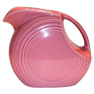 Fiesta Rose Colored Disk Pitcher