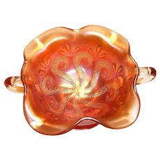 Lovely Carnival Glass Bon Bon Compote/Nappy