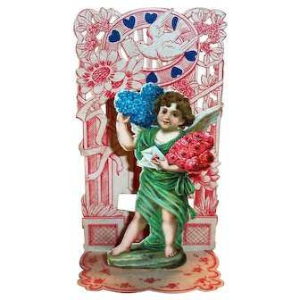 To My Valentine Fold Up: Valentine (Cupid & Flowers)