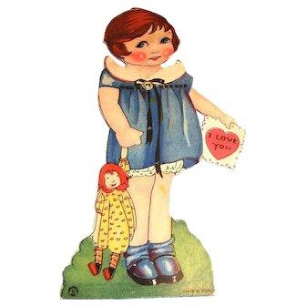I Love You: Little Girl In Blue Mechanical Valentine