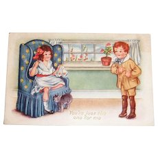 Whitney: You're Just The One For Me Valentine Postcard