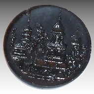 Vintage Black Glass Mourning Button