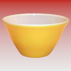 McKee Fired-On Yellow Bell Shaped Bowl