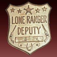 Lone Ranger Deputy Toy Badge