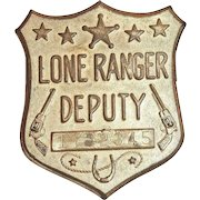 Lone Ranger Deputy Toy Badge