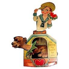 Vintage I'm Saving My Heart For You Mechanical Valentine