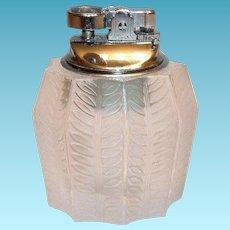 Vintage Lalique Jamaique Tabletop Lighter (Rare)