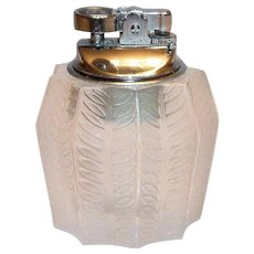 Vintage Lalique Jamaique Tabletop Lighter (Rare)