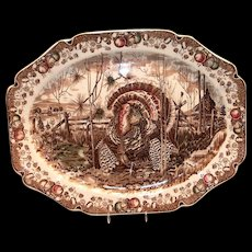 Johnson Bros.: His Majesty Turkey Platter