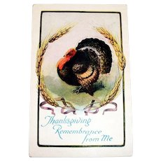 Thanksgiving Remembrance From Me Postcard