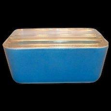 Pyrex Medium Size Blue Refrigerator Dish With Lid