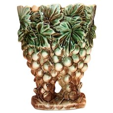 McCoy Grapes & Leaves Pottery Vase/Planter