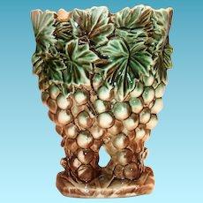 McCoy Grapes & Leaves Pottery Vase/Planter