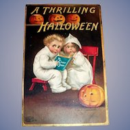 Clapsaddle: A Thrilling Hallowe'en Postcard - 1909
