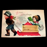 Wolf & Co.: A Merry Christmas Postcard Signed Clapsaddle
