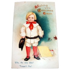 International Art Publishing Co.: Wishing You Christmas Cheer Postcard Signed Ellen H. Clapsaddle