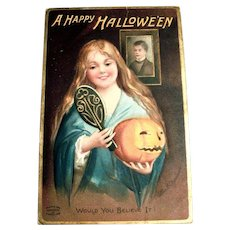 A Happy Halloween Postcard Signed Clapsaddle