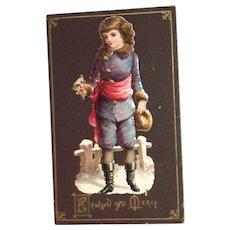 Vintage Reward Of Merit Light Cardboard Card