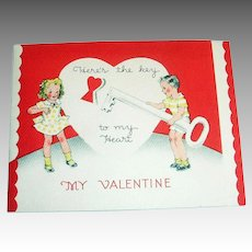 Here's The Key To My Heart, My Valentine Card & Envelope