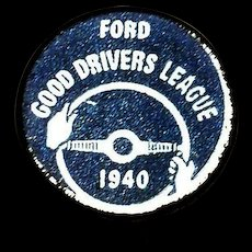 Ford Good Drivers League 1940 Pin