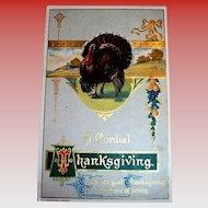 H. Wessler: A Cordial Thanksgiving Postcard - 1910