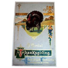 H. Wessler: A Cordial Thanksgiving Postcard - 1910