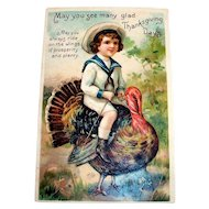 International Art Publishers Co.: May You See Many Glad Thanksgiving Days Postcard