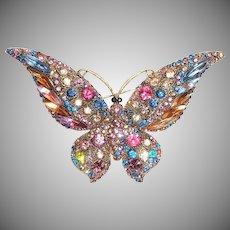Lovely Butterfly Rhinestone Pin