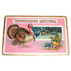 B&S: Thanksgiving Greetings Postcard - 1911