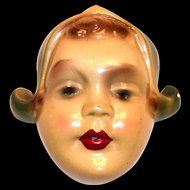 Vintage Dutch Girl Head Chalkware Wall String Holder