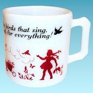 Hazel Atlas Children's Glass Prayer Mug