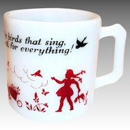 Hazel Atlas Children's Glass Prayer Mug