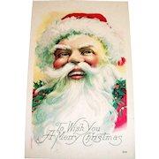 To Wish You A Merry Christmas Postcard (Santa Claus Design)
