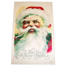 To Wish You A Merry Christmas Postcard (Santa Claus Design)