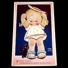 Touch Wood--Everyfing's Going To Be Fine! - Mabel Lucie Attwell